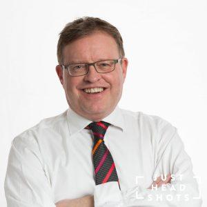 Professional headshot photograph on a white background by Warrington based justheadshots.photo