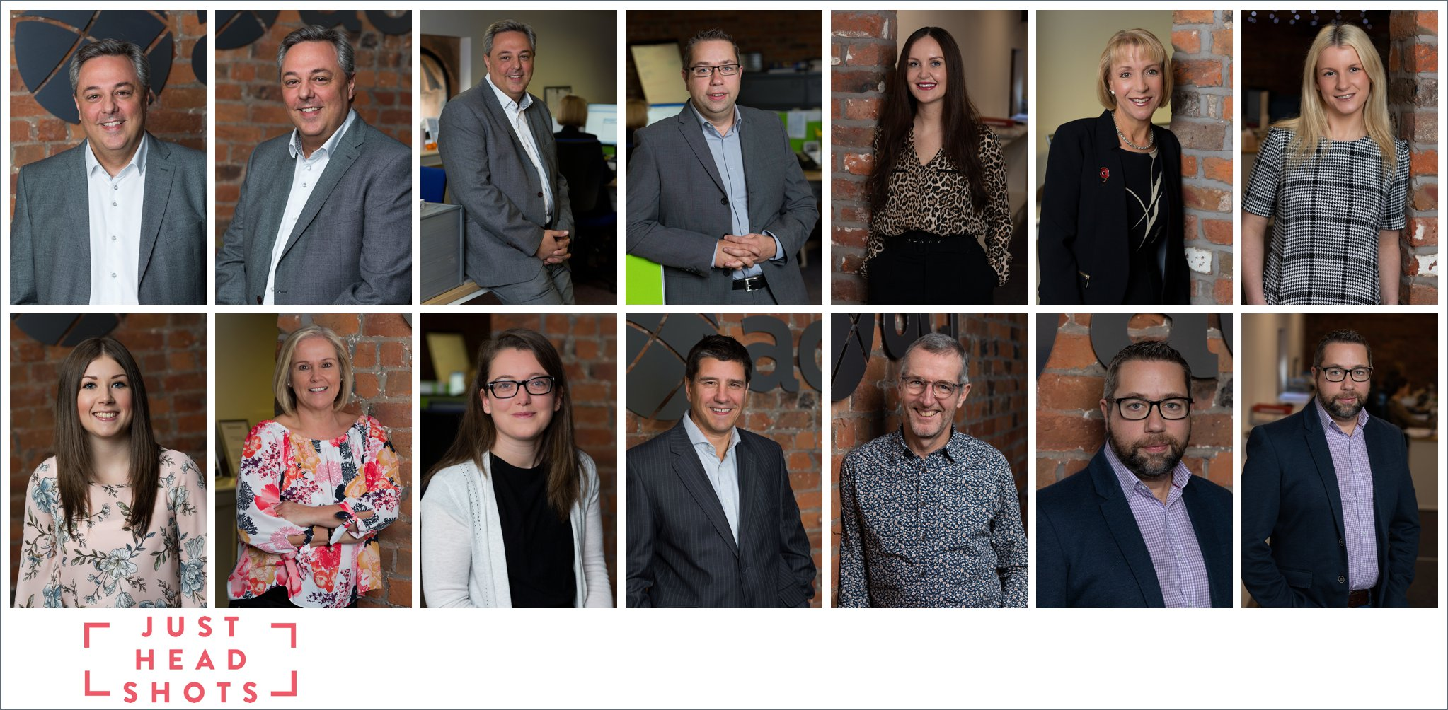 Colour full body business portrait photography using the brick finish in converted stable office in Liverpool