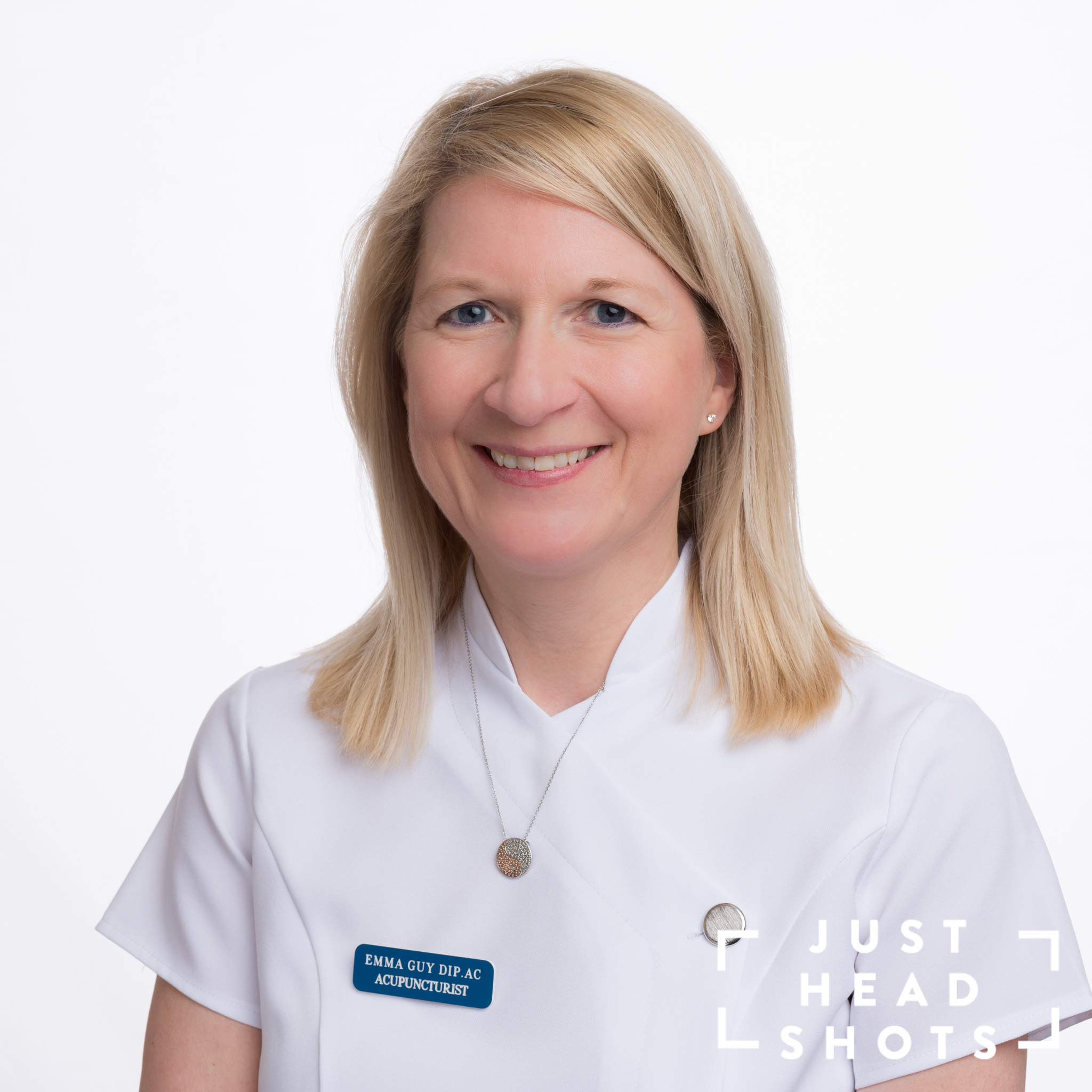 White background headshot photograph of healthcare worker in Northwich, Cheshire