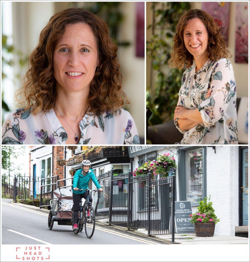 Comparison of profile, headshot and business portrait photos
